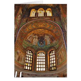 Cartão de Natal do mosaico de Ravenna, Italia