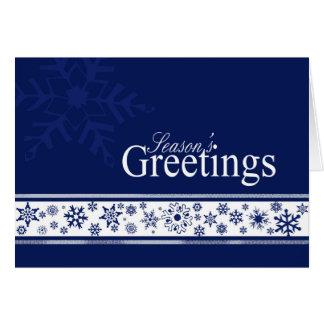 Cartão de Natal do negócio dos flocos do brilho