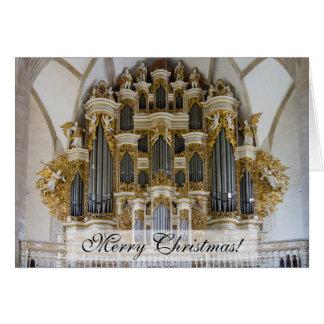 Cartão de Natal do órgão da catedral de Merseburg
