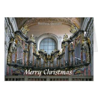 Cartão de Natal do órgão de Bamberga