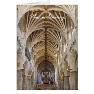 Cartão de Natal do órgão de Exeter