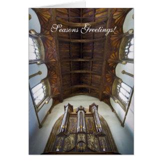Cartão de Natal do órgão de Framlingham