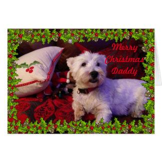 Cartão de Natal do pai do Feliz Natal