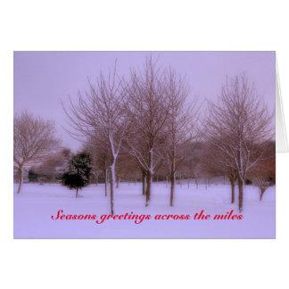 Cartão de Natal do país das maravilhas do inverno