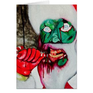 Cartão de Natal do papai noel do zombi
