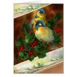 Cartão de Natal do pássaro do Victorian