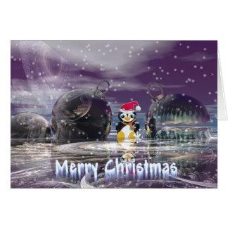 Cartão de Natal do pinguim