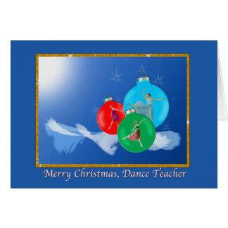 Cartão de Natal do professor da dança com bailarin