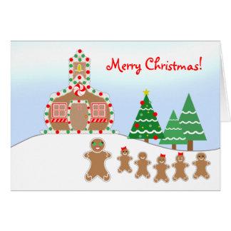 Cartão de Natal do professor da escola do pão-de-e