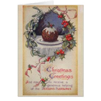 Cartão de Natal do pudim de Figgy do Victorian