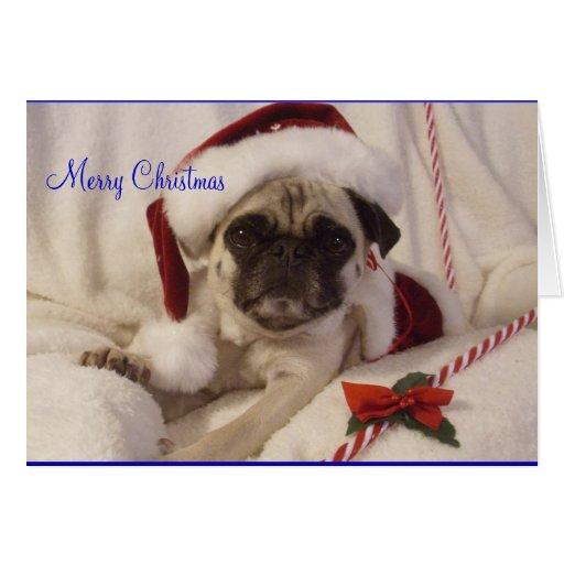 Cartão de Natal do Pug