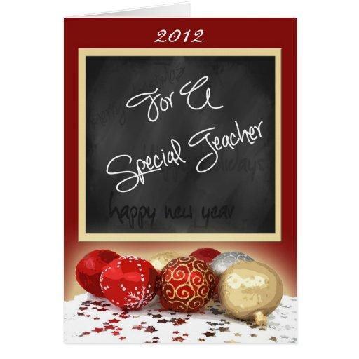 Cartão de Natal do quadro para o professor