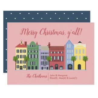 Cartão de Natal do SC de Charleston da fileira do