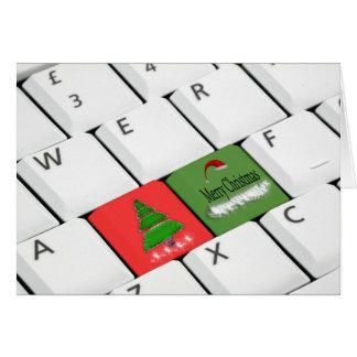 Cartão de Natal do teclado de computador