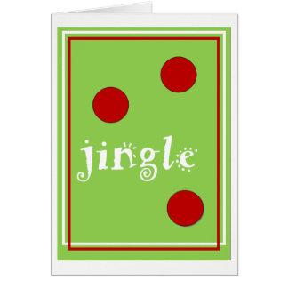 Cartão de Natal do tinir