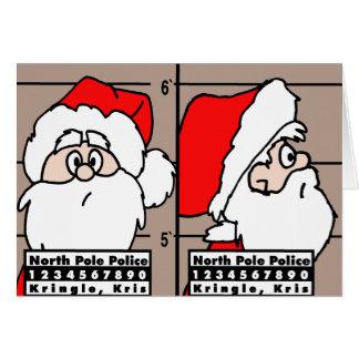 Cartão de Natal do tiro de caneca de Papai Noel