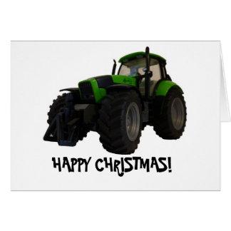 Cartão de Natal do trator