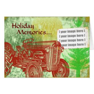 Cartão de Natal do trator Adicione sua foto