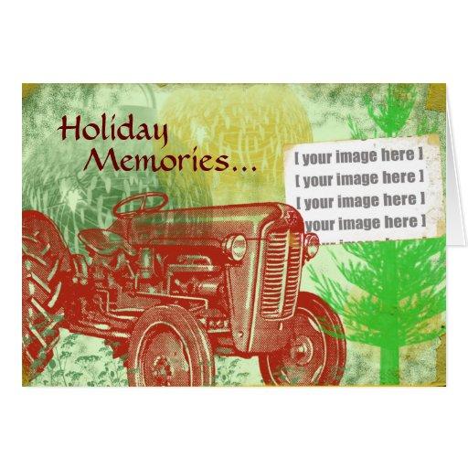 Cartão de Natal do trator: Adicione sua foto
