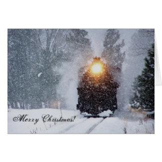 Cartão de Natal do trem do vale do Sumpter