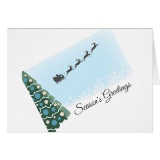 Cartão de Natal do trenó do papai noel