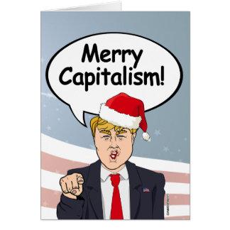 Cartão de Natal do trunfo - capitalismo alegre -