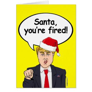 Cartão de Natal do trunfo - papai noel você é
