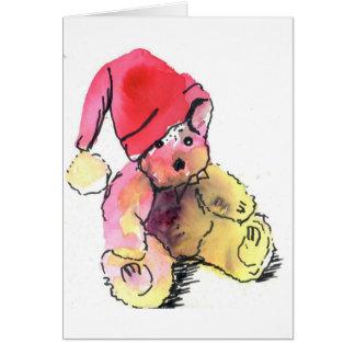 Cartão de Natal do urso de ursinho