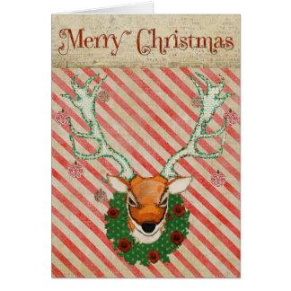 Cartão de Natal do veado