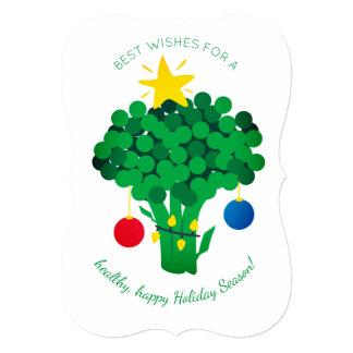 Cartão de Natal do vegan do vendedor de comida dos