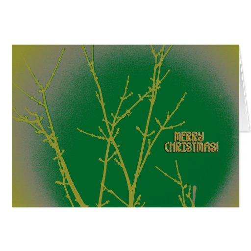 Cartão de Natal do verde do design da natureza