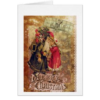 Cartão de Natal do Victorian com uma torção do