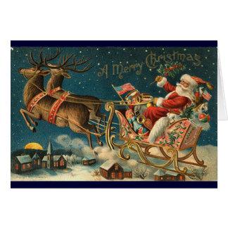 Cartão de Natal do Victorian - papai noel