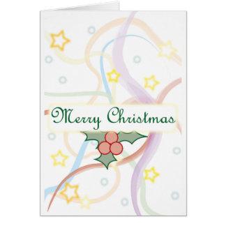 Cartão de Natal do visco
