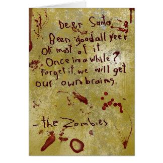 cartão de Natal do zombi