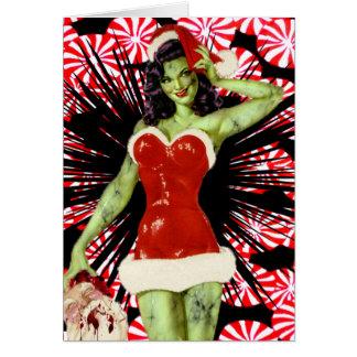 Cartão de Natal do zombi do Peppermint