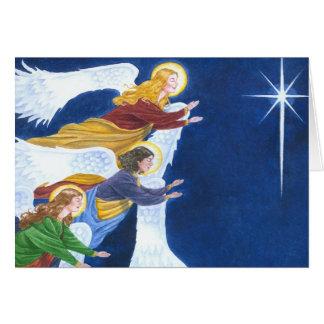 Cartão de Natal dos anjos