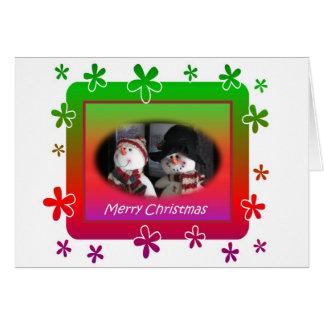 Cartão de Natal dos bonecos de neve