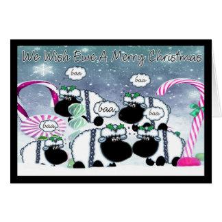 Cartão de Natal dos carneiros - nós desejamos a