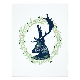 Cartão de Natal dos cervos