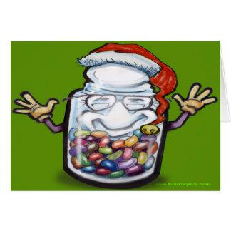 Cartão de Natal dos contadores de feijão