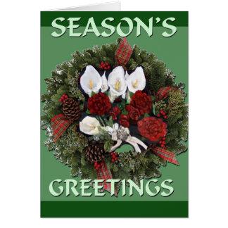 Cartão de Natal dos cumprimentos das estações