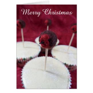 Cartão de Natal dos cupcakes do pisco de peito