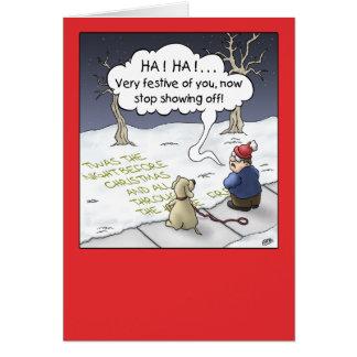 Cartão de Natal dos desenhos animados: Fluxo