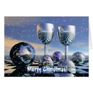 Cartão de Natal dos elogios
