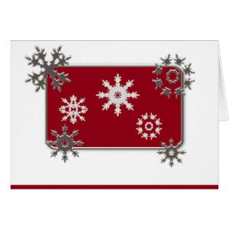 Cartão de Natal dos flocos de neve