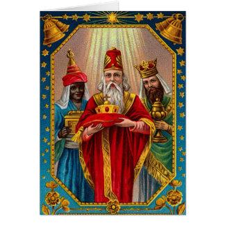 Cartão de Natal dos homens sábios do Victorian