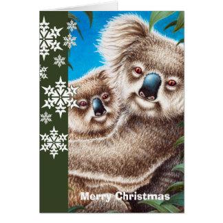 Cartão de Natal dos Koalas