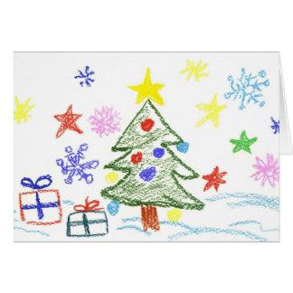 Cartão de Natal dos miúdos para que dêem a qualque