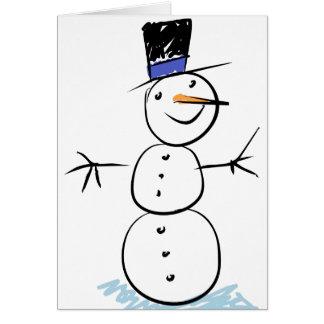 Cartão de Natal dos miúdos para que dêem a um prof